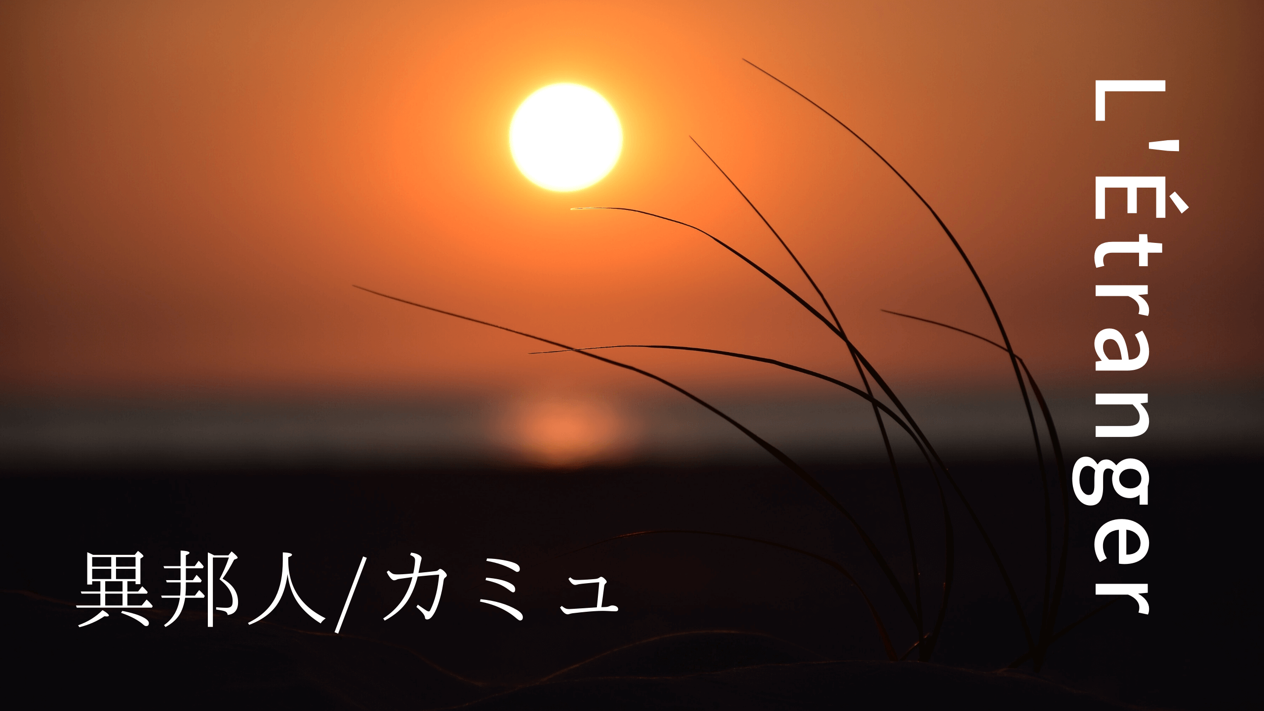 小説 異邦人/カミュ