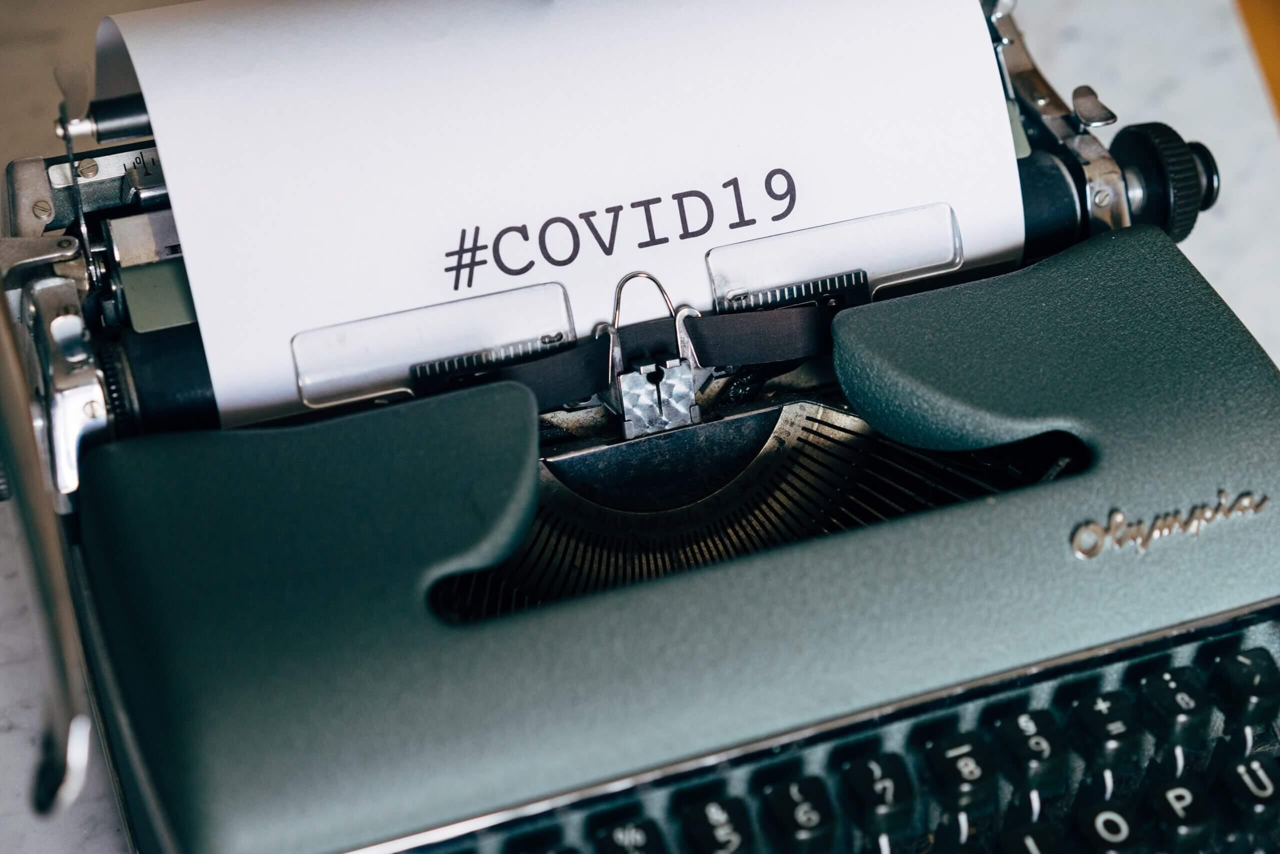 covid-19 タイプライター